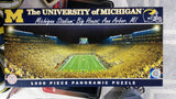"NCAA Michigan Wolverines ""The Big House"" 1000 Piece Panoramic Puzzle - Hockey Cards Plus LLC"