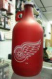 NHL Detroit Red Wings 64oz Color Frosted Collectible Growler with Team Logo - Hockey Cards Plus LLC