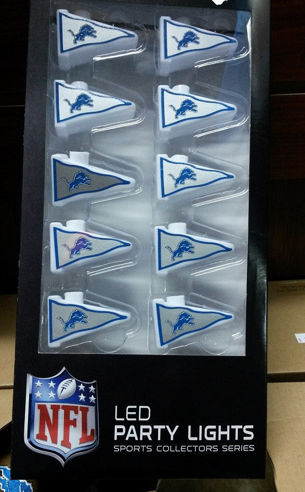 NFL Detroit Lions LED Party Lights - Hockey Cards Plus LLC  - 1