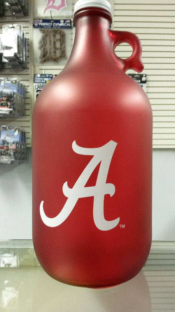 NCAA Alabama Crimson Tide 64oz Color Frosted Collectible Growler with Team Logo - Hockey Cards Plus LLC