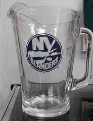 NHL New York Islanders 60oz Glass Pitcher - Hockey Cards Plus LLC