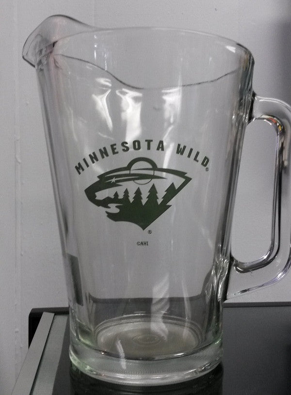 NHL Minnesota Wild 60oz Glass Pitcher