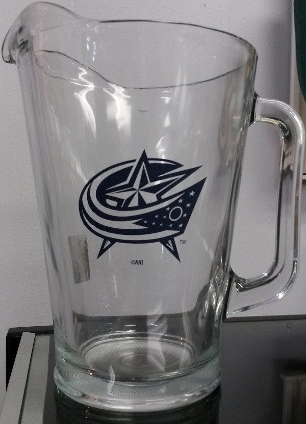 NHL Columbus Blue Jackets 60oz Glass Pitcher