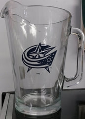 NHL Columbus Blue Jackets 60oz Glass Pitcher - Hockey Cards Plus LLC