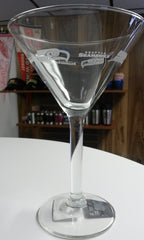 NFL Seattle Seahawks 10oz Satin Etch Martini Glass - Hockey Cards Plus LLC