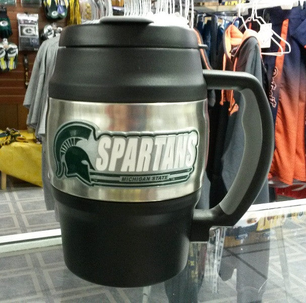 NCAA Michigan State Spartans Heavy Duty Insulated Mug / Travel Mug Mini Keg 20oz - Hockey Cards Plus LLC