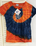 MLB Detroit Tigers Spiral V Tie-Dye Women's Junior T-Shirt - Hockey Cards Plus LLC  - 1
