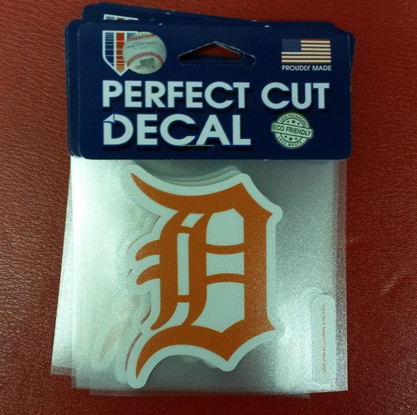 "MLB Detroit Tigers Orange Perfect Cut Color Decal 4"" x 4"""