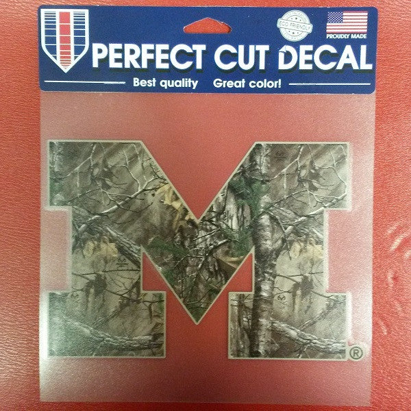 "NCAA Michigan Wolverines Realtree Perfect Cut Color Decal 8"" X 8"" - Hockey Cards Plus LLC"