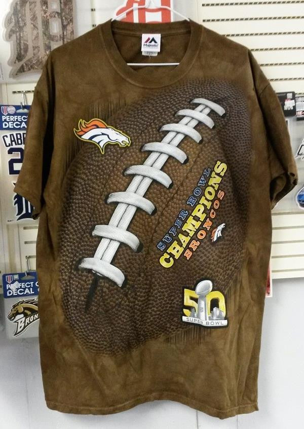 NFL Denver Broncos Super Bowl Champion 3D-Style Kickoff Tie-Dye T-Shirt - Hockey Cards Plus LLC  - 1