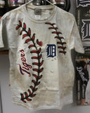 MLB Detroit Tigers Youth / Kids 3D-Style Hardball Tie-Dye T-Shirt - Hockey Cards Plus LLC  - 1