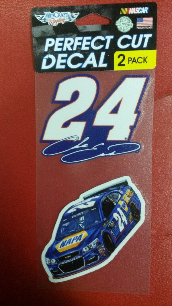 "NASCAR Chase Elliott Perfect Cut Decal Set Of Two 4"" x 4"" - Hockey Cards Plus LLC"
