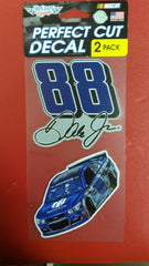"NASCAR Dale Earnhardt Jr. Perfect Cut Decal Set Of Two 4"" x 4"" - Hockey Cards Plus LLC"