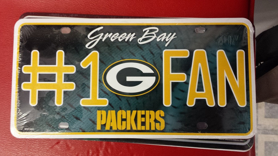 NFL Green Bay Packers Metal #1 Fan License Plate