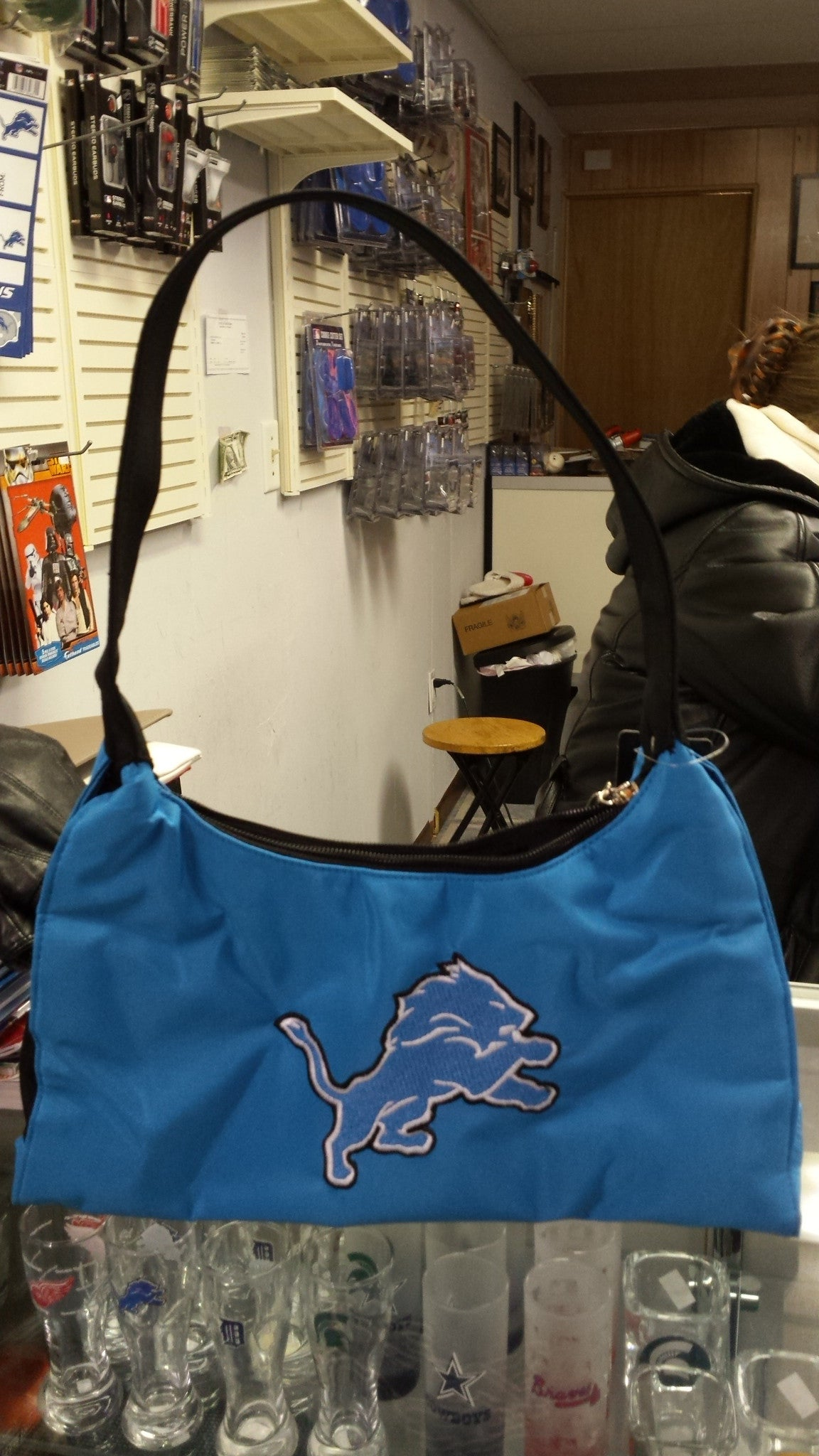 NFL Licensed Detroit Lions Embroidered Purse