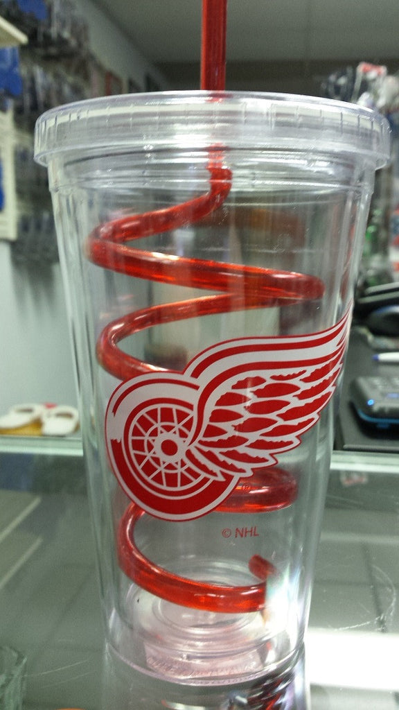 NHL Detroit Red Wings 18oz Tumbler with Swirl Straw