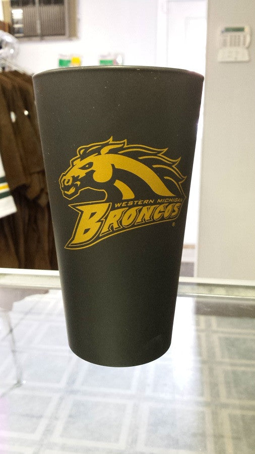 NCAA Western Michigan Broncos 16oz Color Frosted Pint Glass