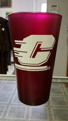 NCAA Central Michigan Chippewas 16oz Color Frosted Pint Glass