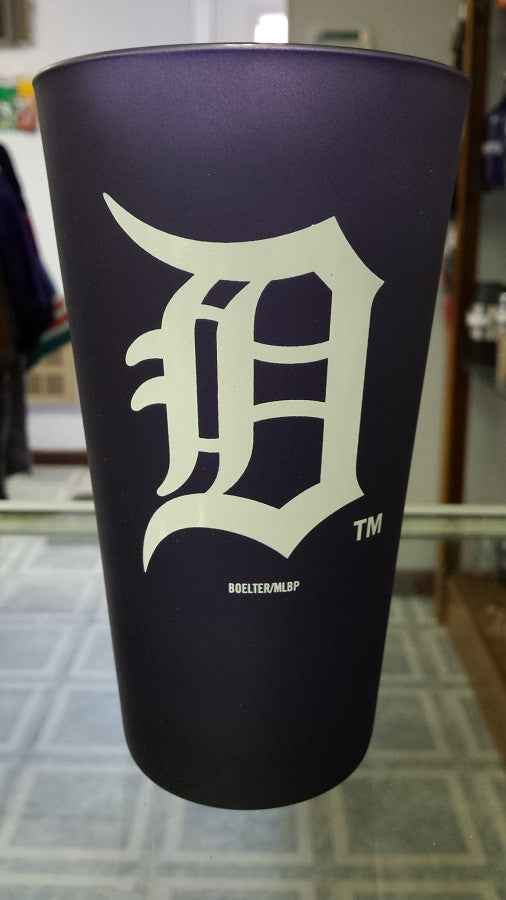 MLB Detroit Tigers 16oz Color Frosted Pint Glass