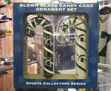 NCAA Michigan State Spartans 2pc Candy Cane Ornament Set