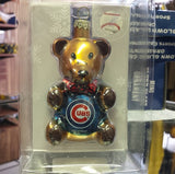 MLB Chicago Cubs Teddy Bear Ornament