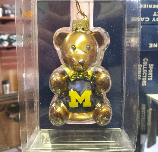 NCAA Michigan Wolverines Teddy Bear Ornament