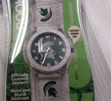 NCAA Michigan State Spartans Unisex Rookie White Watch