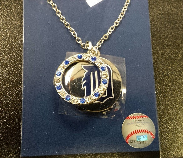 MLB Detroit Tigers Disk and Ring Charm Necklace