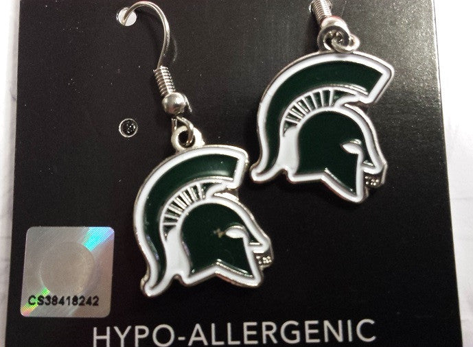 NCAA Michigan State Spartans Logo Dangle Earrings