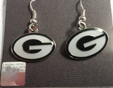NFL Green Bay Packers Logo Dangle Earrings