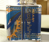 NFL Miami Dolphins 6oz Stainless Steel Flask with Hi-Def Metallic 360 Wrap