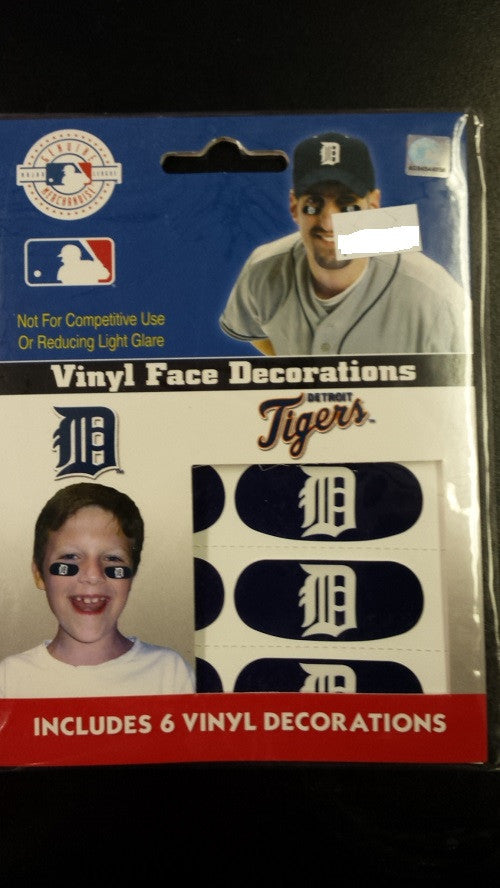 MLB Detroit Tigers Blue Vinyl Face Decorations