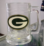NFL Green Bay Packers 15oz Glass Tankard with Primary Logo