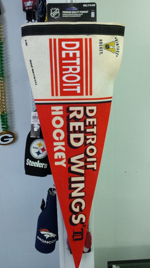 "NHL Detroit Red Wings Vintage Premium Pennant 12"" x 30"""