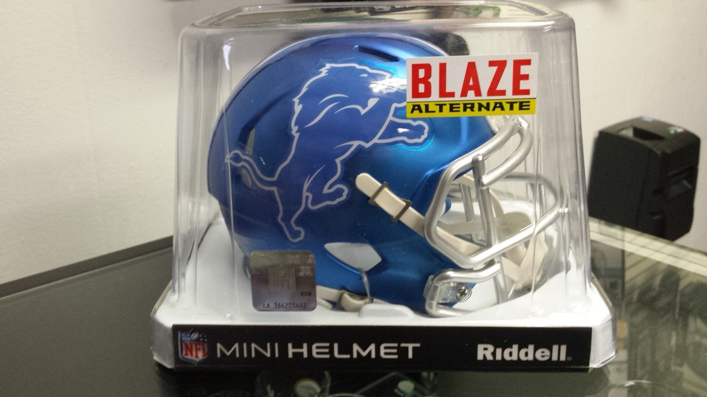 NFL Riddell Detroit Lions Limited Edition Blaze Style Mini Speed Helmet