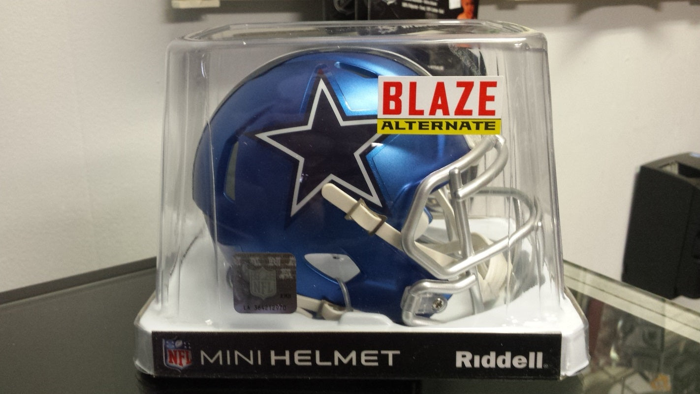 NFL Riddell Dallas Cowboys Limited Edition Blaze Style Mini Speed Helmet