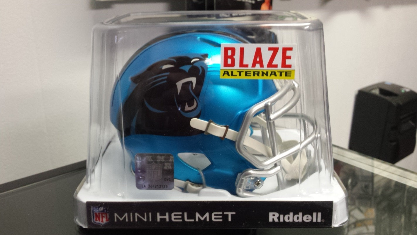 NFL Riddell Carolina Panthers Limited Edition Blaze Style Mini Speed Helmet