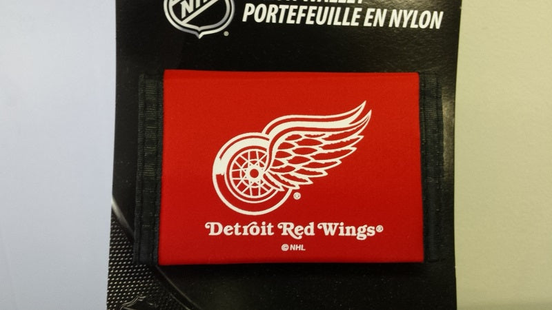 NHL Detroit Red Wings Nylon Trifold Wallet