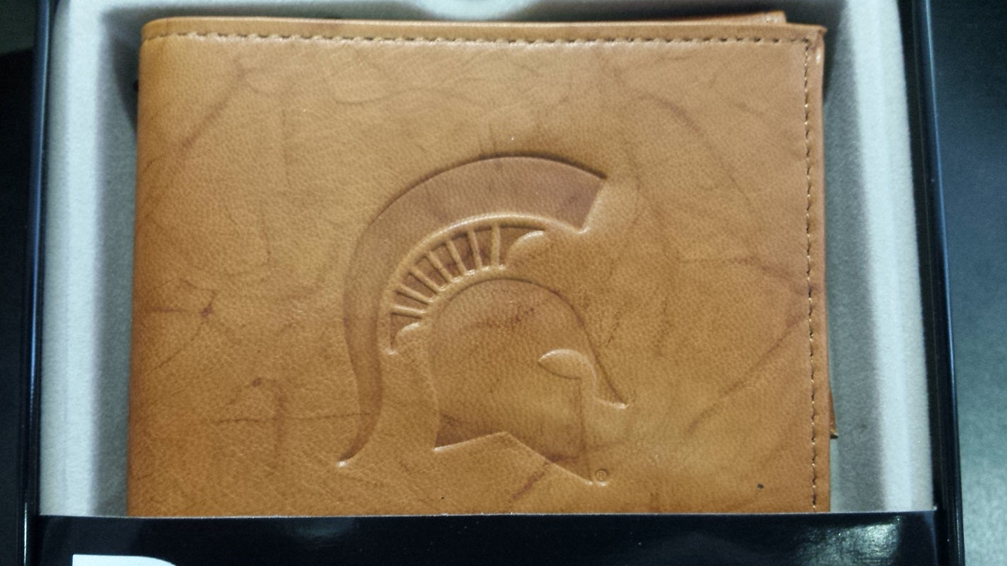NCAA Michigan State Spartans Embossed Billfold / Wallet