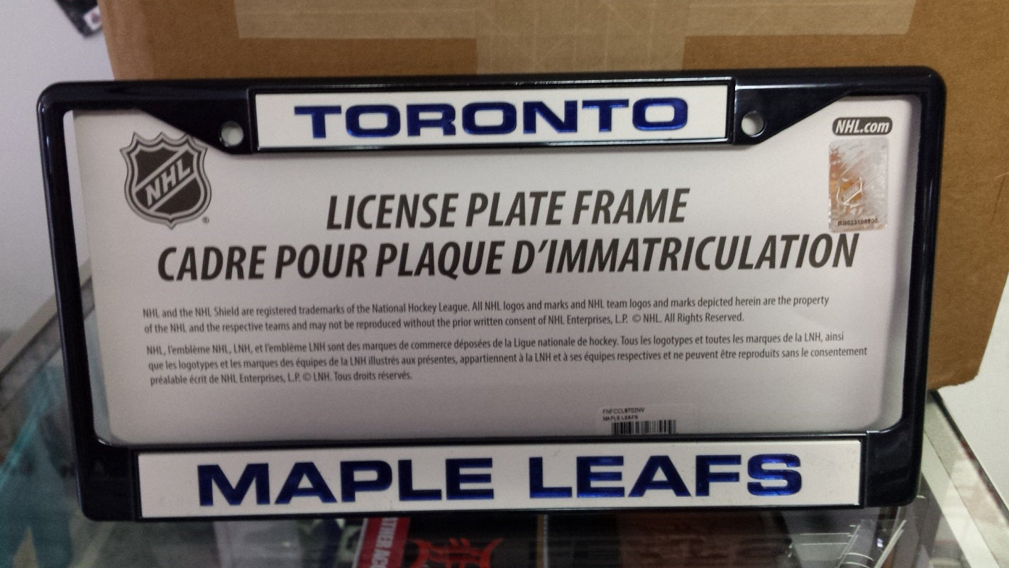 NHL Toronto Maple Leafs Navy Laser Cut Chrome License Plate Frame