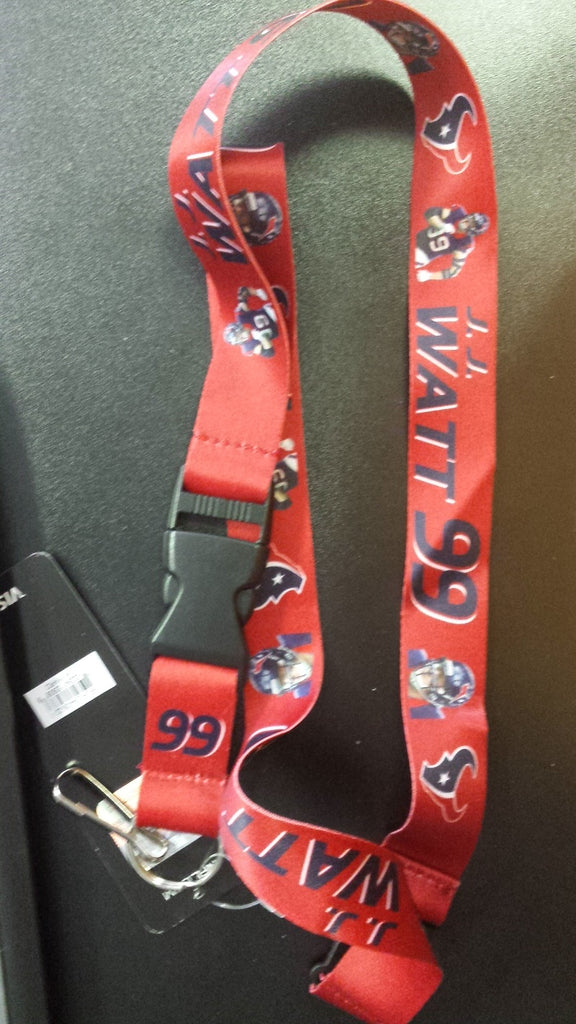NFL Houston Texans J. J. Watt Red Break Away Lanyard