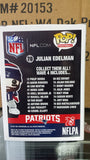 NFL New England Patriots Julian Edelman Funko Pop Vinyl Figure