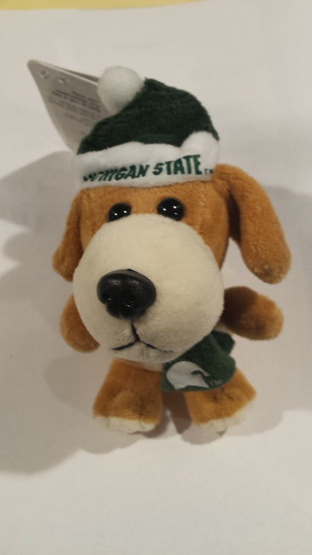 NCAA Michigan State Spartans Plush Dog Ornament
