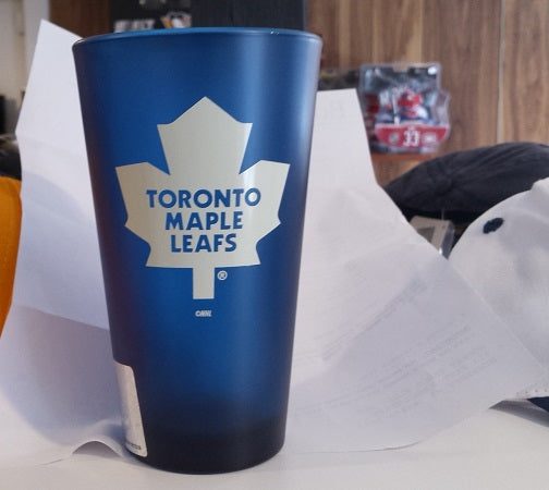 NHL Toronto Maple Leafs 16oz Color Frosted Pint Glass