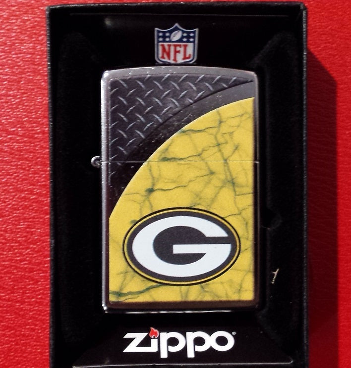 NFL Green Bay Packers Street Chrome Zippo Lighter