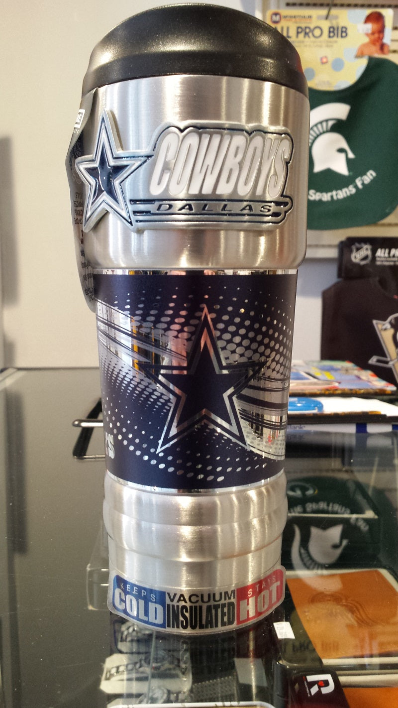 New!! NFL Dallas Cowboys Vacuum Insulated Stainless Steel Tumbler