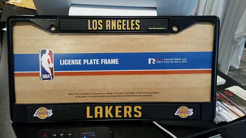 NBA Los Angeles Lakers Black Chrome License Plate Frame