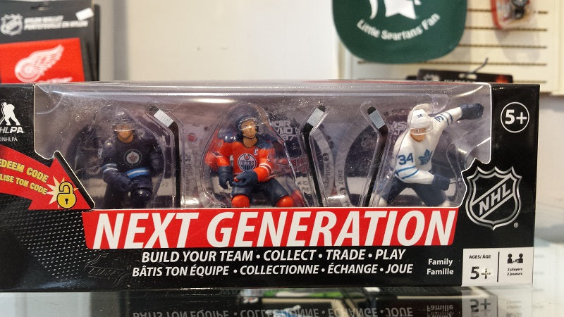 NHL Next Generation 3-Pack of 3 in. Figures - Laine, McDavid, Matthews