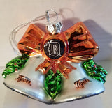 MLB Detroit Tigers Glitter Bell Christmas Ornament