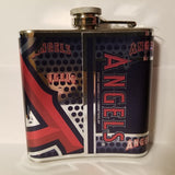 MLB Los Angeles Angels 6oz Hip Flask with Hi-Def Metallic Wrap